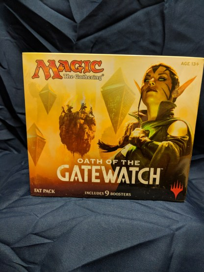 Magic the Gathering Oath of Gatewatch Factory Sealed Fat Pack 9 Boosters