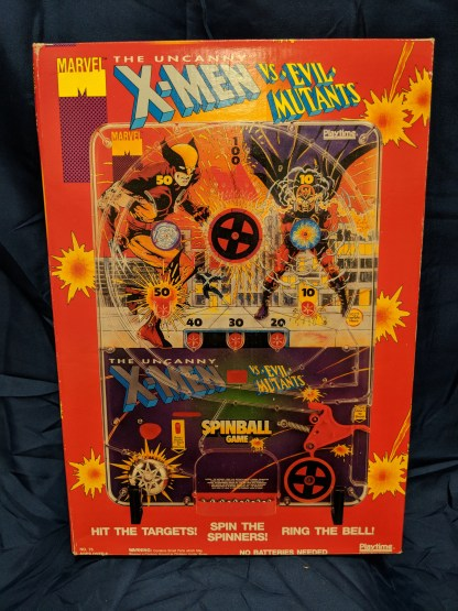 Uncanny X-Men Vs. Evil Mutants Spinball Game Playtime a Tyco Toys Company