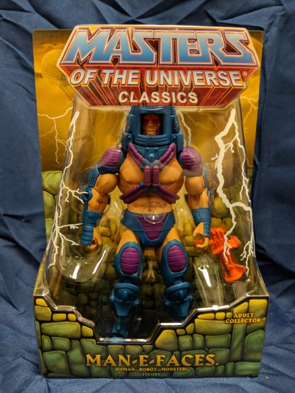 He-Man Masters of the Universe Classics Man-E Faces w/ Labeled Box