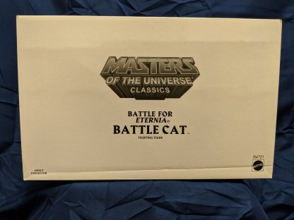 He-Man Masters of the Universe Classics Battle Cat w/ Labeled Box