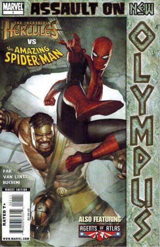 Incredible Hercules #138-141 Set + Assault on Olympus One-Shot Spider-Man