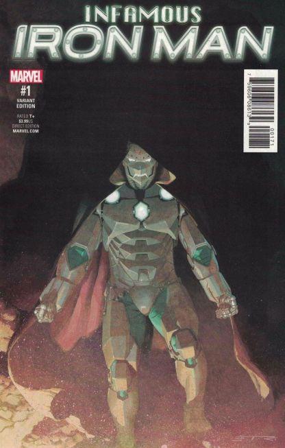 Infamous Iron Man #1 1:25 Esad Ribic Variant NOW Marvel 2016 Doctor Doom