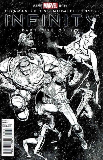 Infinity #1 Arthur Adams Heroes Black and White Sketch Variant