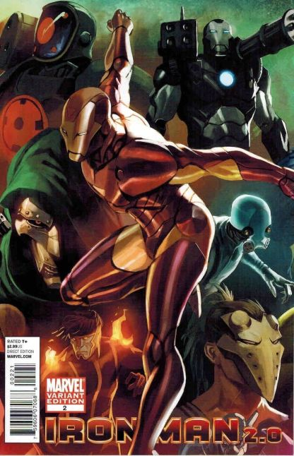 Iron Man 2.0 #2 1:30 Marko Djurdjevic Variant Marvel 2011 Invincible Infamous