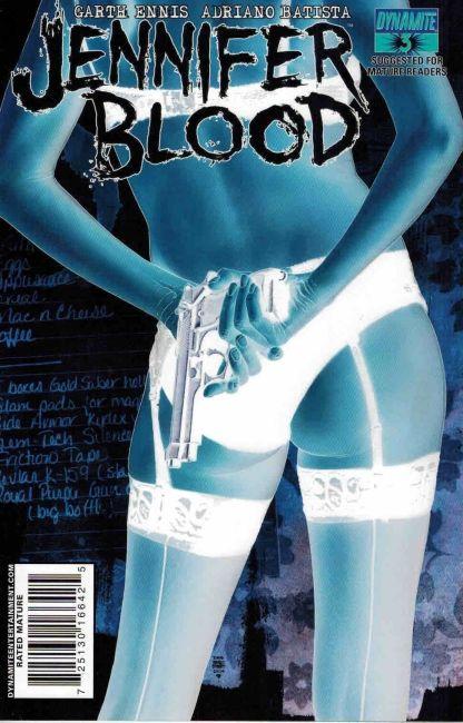 Jennifer Blood #3 Tim Bradstreet Negative Art Variant