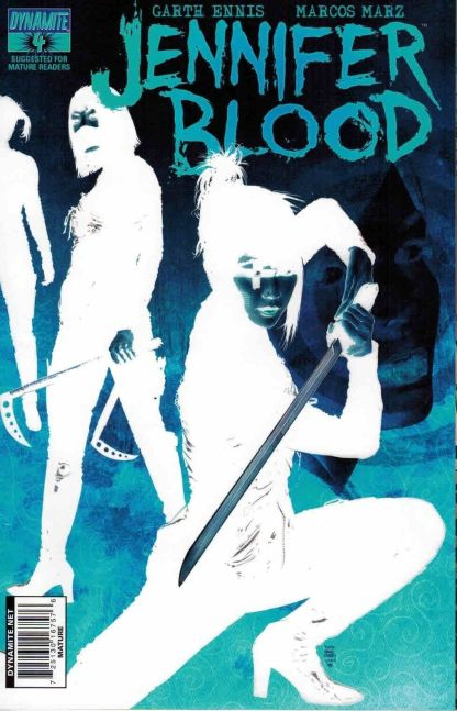 Jennifer Blood #4 Tim Bradstreet Negative Art Variant