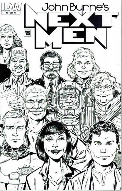 John Byrne's Next Men #8 Black and White Sketch Variant