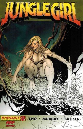 Jungle Girl #0 Frank Cho RRP Exclusive Partial Sketch Variant Dynamite