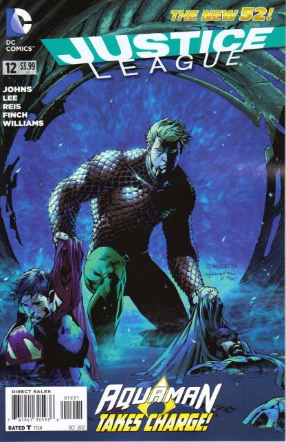 Justice League #12 Jim Lee Aquaman Variant DC New 52 Superman Wonder Woman Kiss