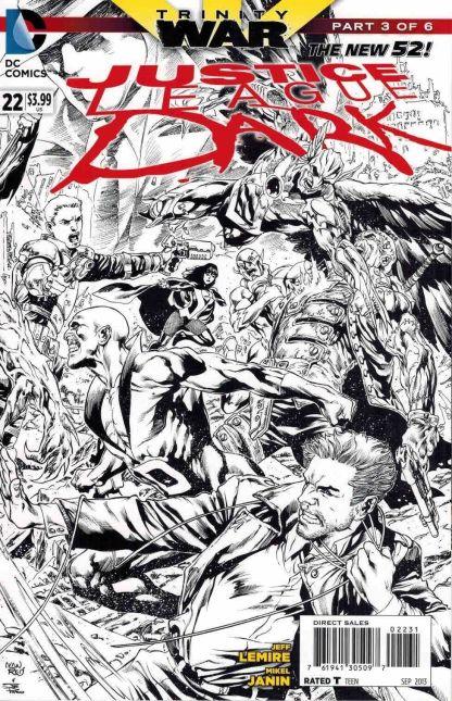 Justice League Dark #22 Black and White Ivan Reis Sketch Variant
