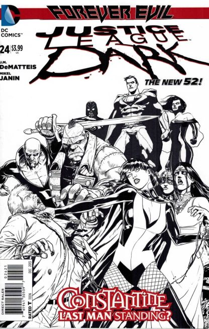 Justice League Dark #24 Black and White Mikel Jannin Sketch Variant