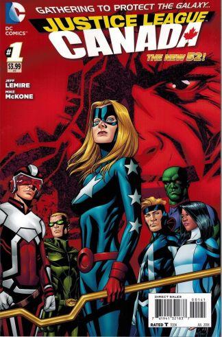 Justice League United #1 Canada Variant DC Comics 2014 New 52 Jeff Lemire