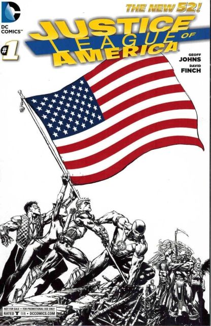 Justice League of America #1 USA Flag Cover RRP Sketch ComicsPro RARE