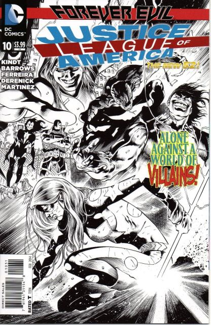 Justice League of America #10 1:100 Black White Sketch Variant DC New 52