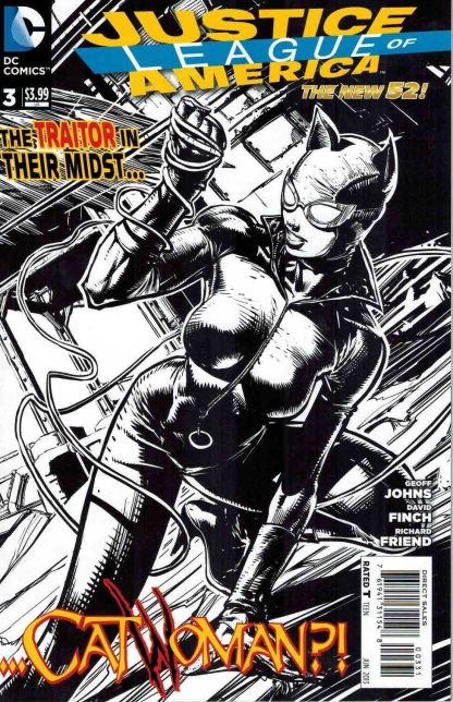 Justice League of America #3 Black and White David Finch Sketch Variant