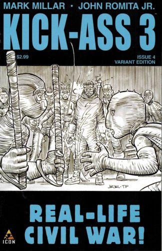Kick-Ass 3 #4 John Romita Jr Black and White Sketch Variant