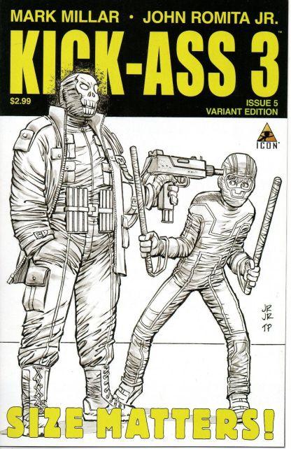 Kick-Ass 3 #5 1:75 John Romita, Jr. Black and White Sketch Variant