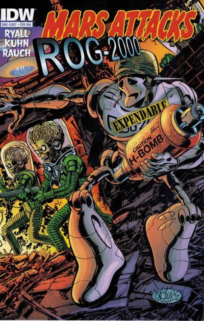 Mars Attacks zombies vs Robots One Shot Cover RIA ROG-2000 John Byrne