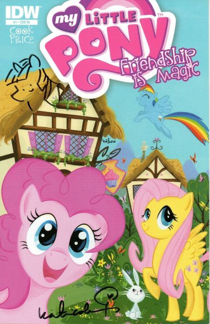 My Little Pony: Friendship is Magic #1 DF Variant Signed and Remarked 42/100