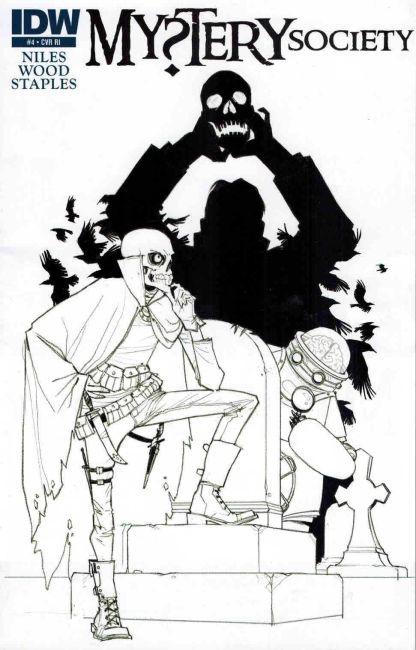 Mystery Society #4 Fiona Staples Sketch Variant