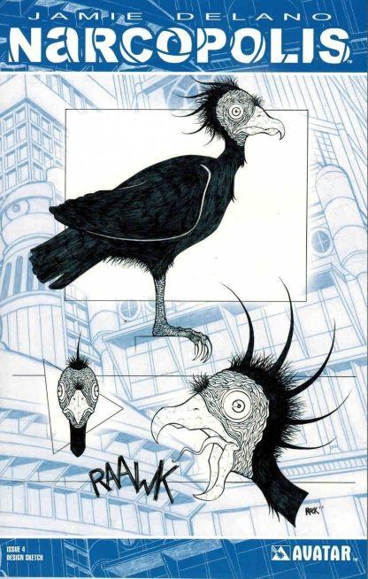 Narcopolis #4 Jeremy Rock Design Sketch Variant