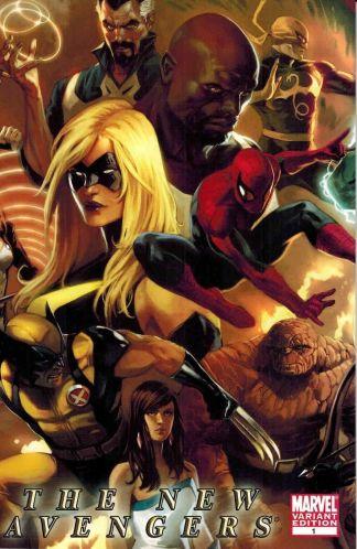 New Avengers #1 1:25 Mark Djurdjevic Variant Marvel 2010