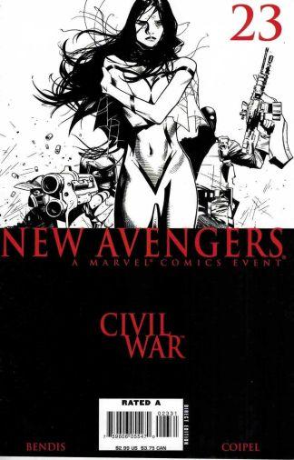 New Avengers #23 Olivier Coipel Black and White Sketch Variant