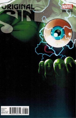 Original Sin #6 1:10 Paul Renaud Hulk Teaser Variant Marvel 2014