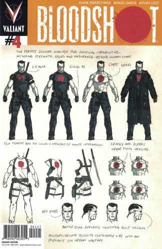 Bloodshot #4 David Aja Design Variant Valiant 2012 Duane Swierczynski Hard CORPS
