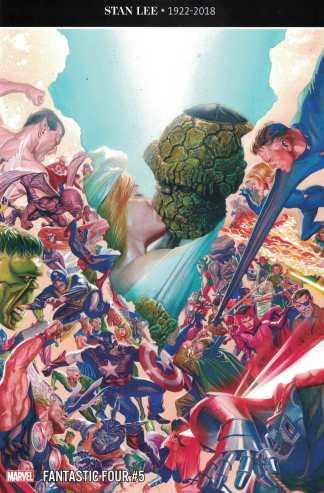 Fantastic Four #5 1:100 Alex Ross Wedding Variant Marvel 2018 Legacy #650