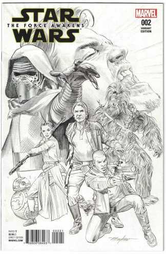 Star Wars Force Awakens Adaptation #2 1:75 Mayhew Sketch Variant VF/NM