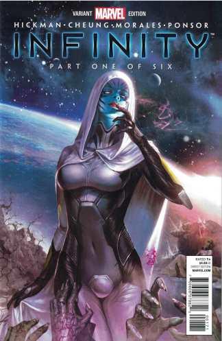Infinity #1 1:75 In-Hyuk Lee Variant Marvel 2013 Thanos Hickman