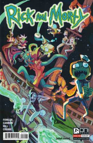 Rick and Morty #12 Variant Cover B Oni Press First Print Comic Book Adult Swim