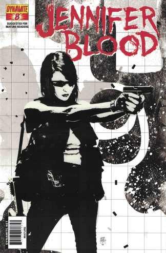 Jennifer Blood #8 1:10 Tim Bradstreet B&W Variant Dynamite 2011