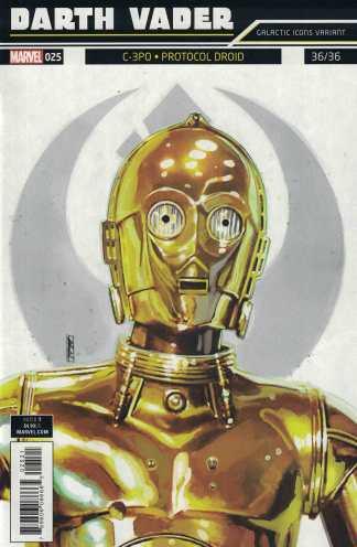 Star Wars Darth Vader #25 Rod Reis Galactic Icons Variant 36 Marvel 2017 C-3PO