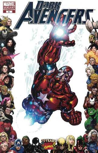 Dark Avengers #8 1:10 70th Anniversary Frame Variant Marvel 2009