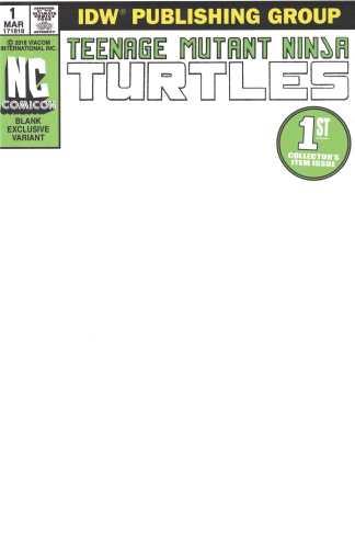 Teenage Mutant Ninja Turtles #1 Comicon Exclusive Blank Sketch Variant IDW 2011