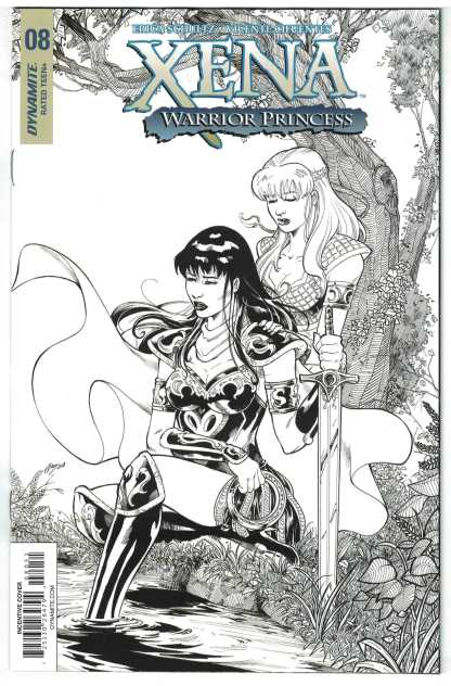 Xena Warrior Princess #8 1:25 Cifuentes Black White Sketch Variant 2018 VF/NM