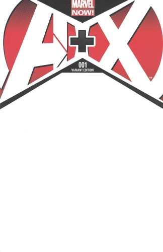 A Plus X #1 Blank Sketch Variant Marvel NOW 2012 A+X Avengers X-Men