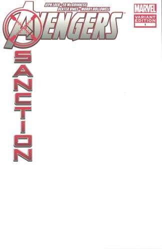 Avengers X-Sanction #1 Blank Sketch Variant Marvel 2010