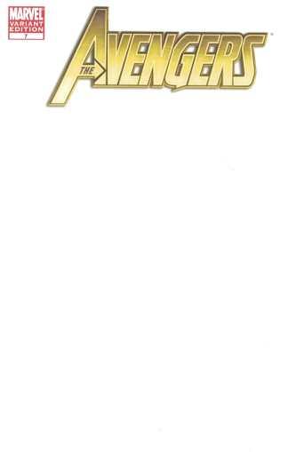 Avengers #7 Blank Sketch Variant Marvel 2010 Heroic Age Bendis John Romita Jr