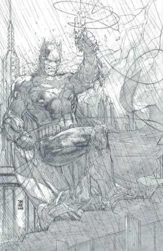 Justice League #1 1:500 Jim Lee Pencils Only Sketch Variant DC 2018 Snyder