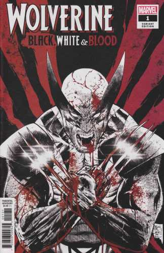 Wolverine Black White and Blood #1 1:25 Tony S Daniel Variant Marvel 2020