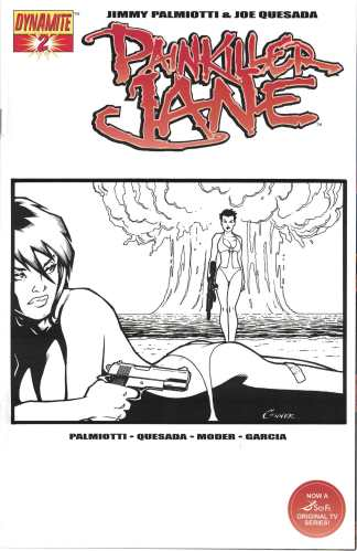 Painkiller Jane #2 Amanda Conner Black and White Incentive Variant Dynamite Cover C 2007
