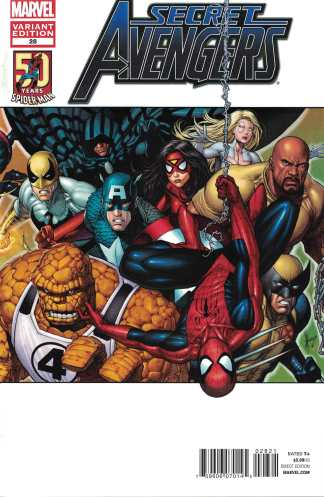 Secret Avengers #28 1:25 Keown Spider-Man in Motion Variant Marvel 2012