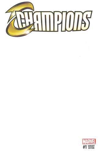 Champions #1 Blank Sketch Variant Marvel 2016 Mark Waid
