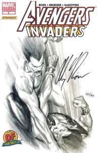 Avengers Invaders #3 Dynamic Forces Alex Ross Sketch Variant Signed 923/999 DF