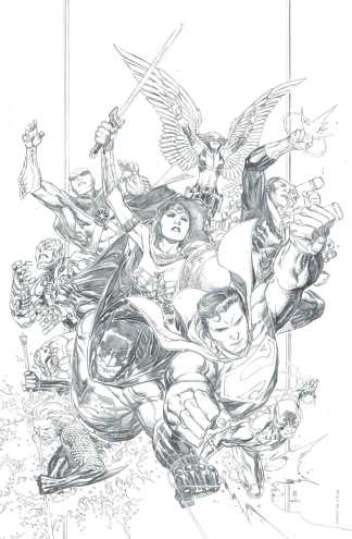 Justice League #1 1:250 Jim Cheung Pencils Only Virgin Variant DC 2018 Snyder