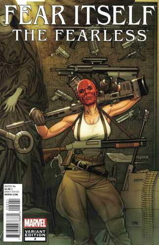 Fear Itself the Fearless #2 1:25 Frank Cho Variant Marvel 2011 Red Skull Sin