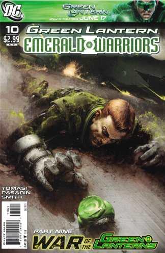 Green Lantern Emerald Warriors #10 1:10 Clayton Crain Variant DC 2010 War Lanterns